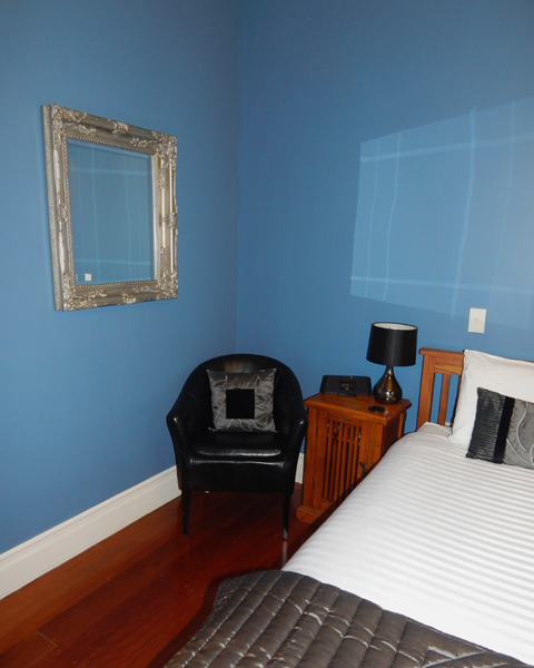 Chair and Feature Mirror in the Blue Room