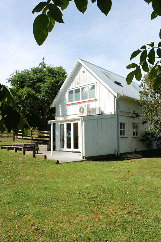 View of the Barn from the adjacent orchard