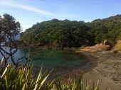 Beach halfway to the Tutukaka Lighthouse