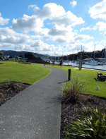 Waterfront walkway from the Town Basin